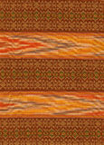 Burmese cotton and silk weaving stock image