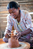Burmese craftswoman Stock Photography