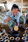 Burmese craftswoman Royalty Free Stock Photo
