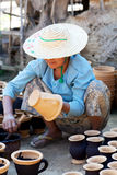 Burmese craftswoman Stock Photo