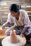 Burmese craftswoman Royalty Free Stock Image