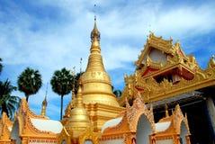 burmese dhammikaramageorgetown malaysia tempel royaltyfri fotografi