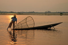 Burmese fisherman Stock Photos