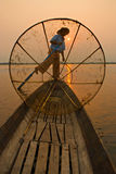 Burmese fisherman Royalty Free Stock Images