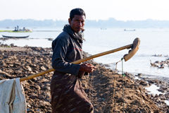 Burmese fisherman Stock Image