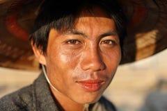 Burmese fisherman in Mandalay, Myanmar Royalty Free Stock Image