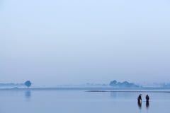 Burmese fishermen Stock Photos