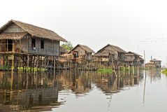 Burmese fishing village Stock Image