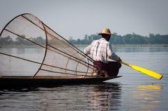 Burmese fishman Royalty Free Stock Photos