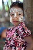 Burmese flicka Arkivbild