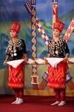 Burmese Folk Kachin Dance Stock Images
