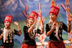 Burmese Folk Kachin Dance Stock Image