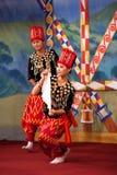 Burmese Folk Kachin Dance Stock Photography