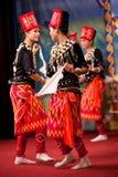 Burmese Folk Kachin Dance Stock Photo