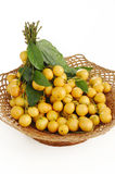Burmese grape in basket Royalty Free Stock Photo