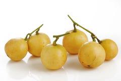 Burmese grape on white Stock Images