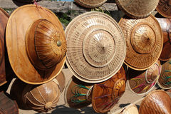 Burmese hats for sale Royalty Free Stock Photography