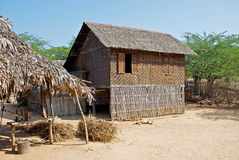 Burmese hut Royalty Free Stock Image