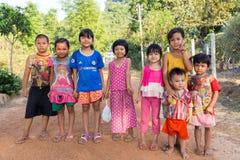 Burmese Karen kids group Royalty Free Stock Photo