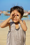 Burmese kid Royalty Free Stock Images