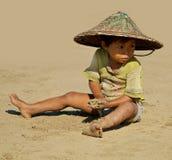 Burmese kid Stock Photo