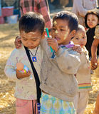 Burmese kids Royalty Free Stock Photography