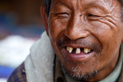 Burmese Man in Falam, Myanmar (Burma) Royalty Free Stock Photo