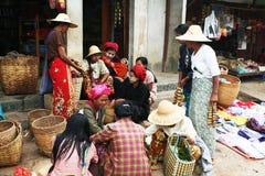Burmese market Royalty Free Stock Images
