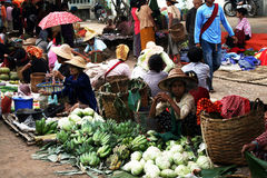 Burmese market Royalty Free Stock Photos