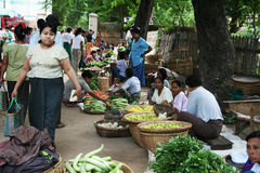 Burmese market Stock Image