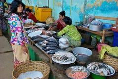 Burmese market Royalty Free Stock Image