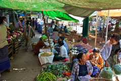 Burmese market Royalty Free Stock Photography