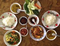 Burmese meal Royalty Free Stock Image