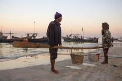 Fishing Village - Ngapali Beach - Myanmar (Burma) Royalty Free Stock Photos