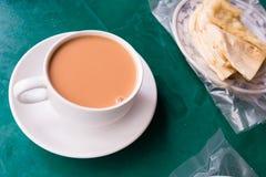 Burmese Milk Tea And Na`an Stock Photos