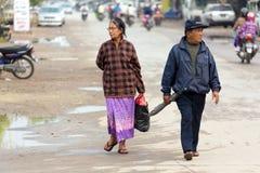 Burmese mognar att gå för par Arkivfoton