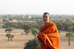 Monk in Bagan Royalty Free Stock Image