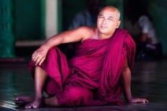 Burmese Monk Royalty Free Stock Photography