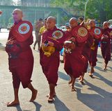 Burmese monks Stock Photo