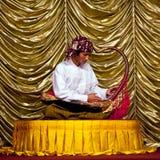 Burmese Musician Royalty Free Stock Image