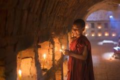 Burmese Novice monk royalty free stock photography