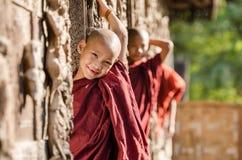 Burmese novice, young monk at Mandalay.  stock image