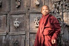 Burmese novice, young monk at Mandalay.  royalty free stock images