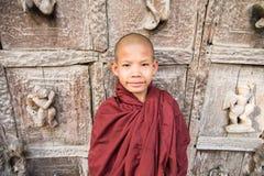 Burmese novice, young monk at Mandalay.  royalty free stock photo