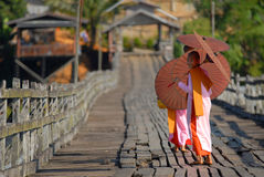Burmese nuns. Royalty Free Stock Photos