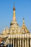 Burmese pagoda in Inwa, Myanmar Royalty Free Stock Photos