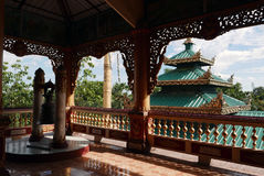 Burmese pagoda and temple. Royalty Free Stock Images