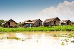 Burmese Palafittes Royalty Free Stock Photos