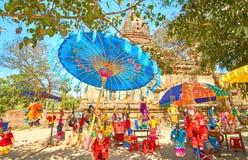 Burmese parasol w Bagan fotografia stock