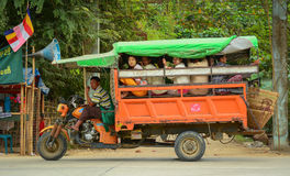 Burmese people on the local bus Royalty Free Stock Photo